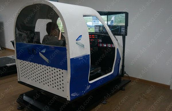 双座动感飞机模拟驾驶舱