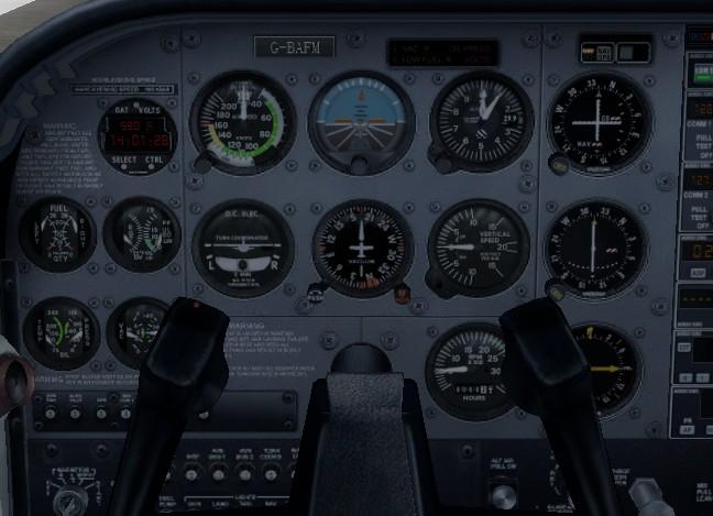 飞行模拟器六大基本仪表识别