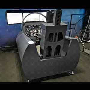 外国某型舰载机飞行模拟器