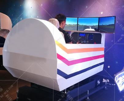 单座三屏动感飞机模拟器