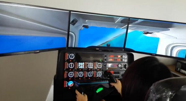 全动感直升机飞行模拟器采用2自由度伺服电动缸动感平台,可模拟飞机